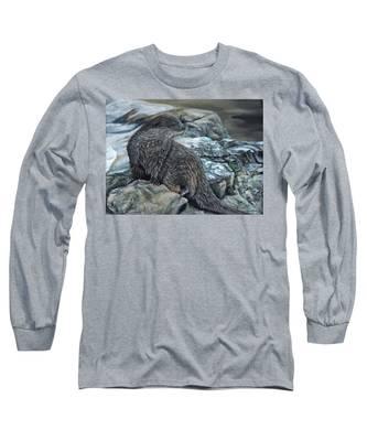 Otter On Rocks Long Sleeve T-Shirt