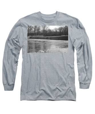 Pompton Spillway In January Long Sleeve T-Shirt