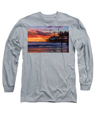 Reflections Of The Pier Long Sleeve T-Shirt