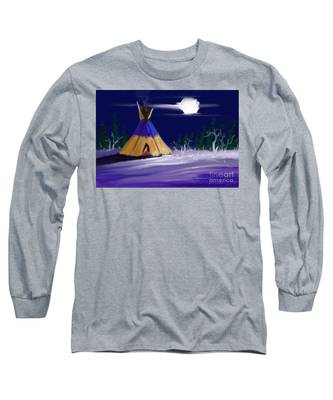 Silence In The Moonlight Long Sleeve T-Shirt