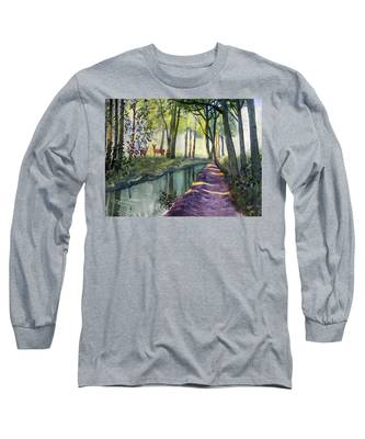 Summer Shade In Lowthorpe Wood Long Sleeve T-Shirt