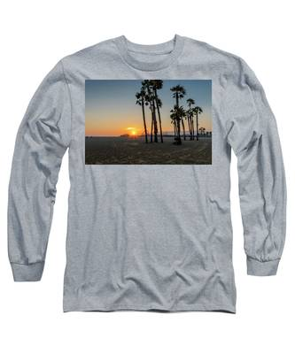 The Pier At Sunset Long Sleeve T-Shirt