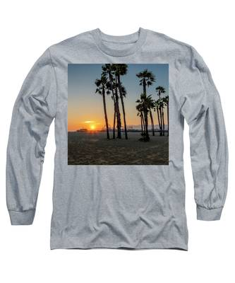 The Pier At Sunset - Square Long Sleeve T-Shirt