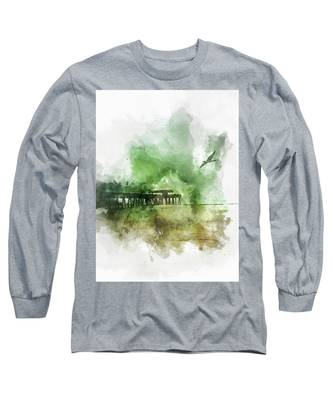 Tybee Island Pier Georgia Long Sleeve T-Shirt