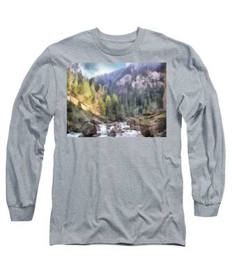 Valley Of Light And Shadow Long Sleeve T-Shirt