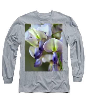 Wisteria White And Purple Long Sleeve T-Shirt