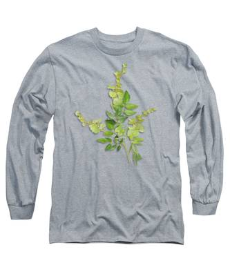 Yellow Tiny Flowers Long Sleeve T-Shirt