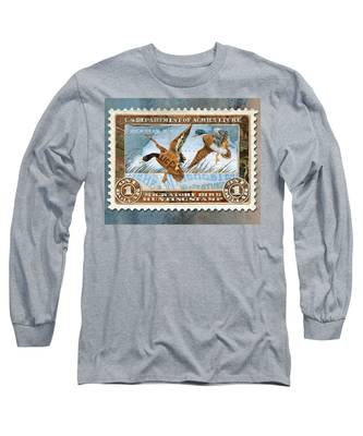 1934 Hunting Stamp Collage Long Sleeve T-Shirt
