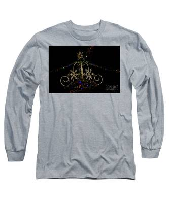 Christmas Lights At Night Long Sleeve T-Shirt