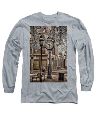 Clock On Street Long Sleeve T-Shirt