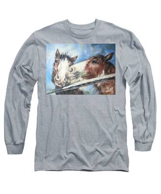 Clydesdale Pair Long Sleeve T-Shirt