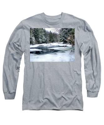 Cucumber Run In Winter Long Sleeve T-Shirt