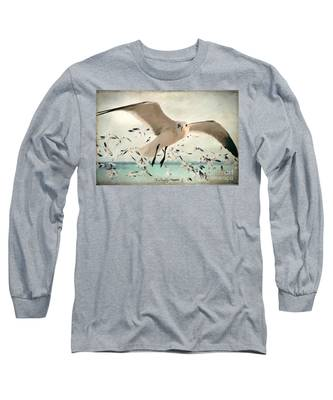 Flight Of The Gulls Long Sleeve T-Shirt