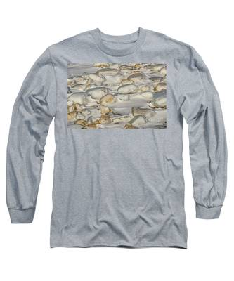 Ice Covered Snow And Sand Long Sleeve T-Shirt