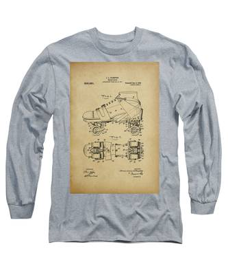 J. L. Plimpton, Roller Skate, Patented Dec.8,1908. Long Sleeve T-Shirt