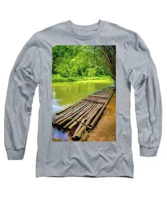 Martha Brae River Rafting Long Sleeve T-Shirt