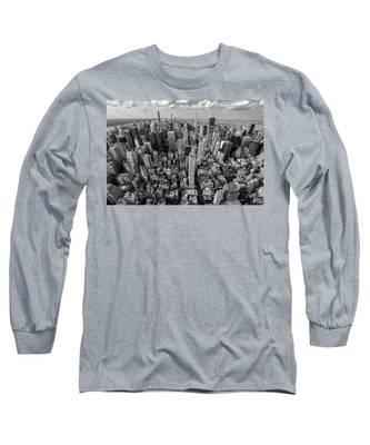 New York City Black White Long Sleeve T-Shirt
