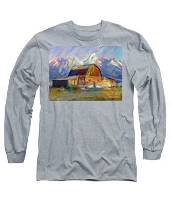 Old Wyoming Barn Long Sleeve T-Shirt