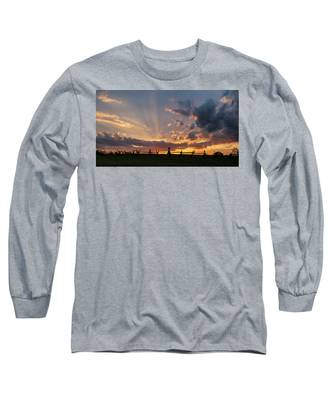 Sunrays At Sunset Long Sleeve T-Shirt