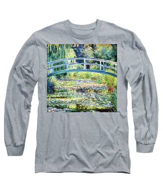 The Water Lily Pond By Monet Long Sleeve T-Shirt