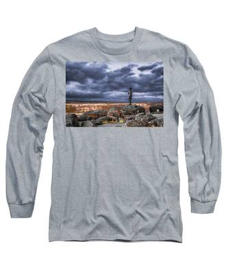 Warren In Infrared Long Sleeve T-Shirt