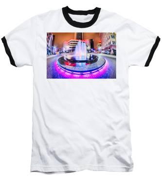 Tulsa City Skyline Around Downtown Streets Baseball T-Shirt