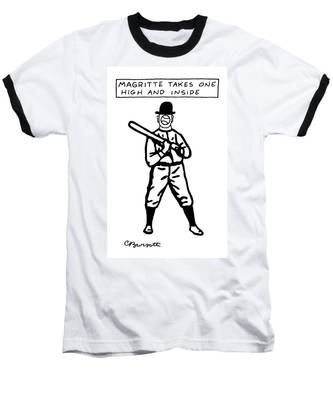Magritte Takes One High Baseball T-Shirt