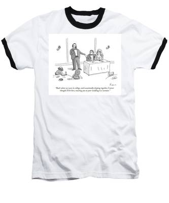 A Man Gives A Toast To The Bride And Groom Baseball T-Shirt