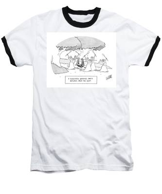 A Successful Wedding Party Returns From The Hunt Baseball T-Shirt