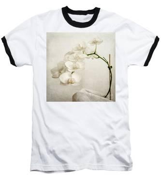 Beautiful White Orchid II Baseball T-Shirt