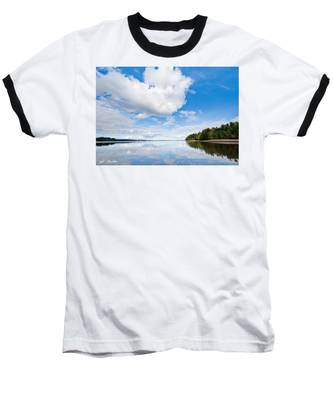 Clouds Reflected In Puget Sound Baseball T-Shirt