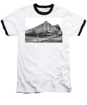 Fbi Building Front View Baseball T-Shirt