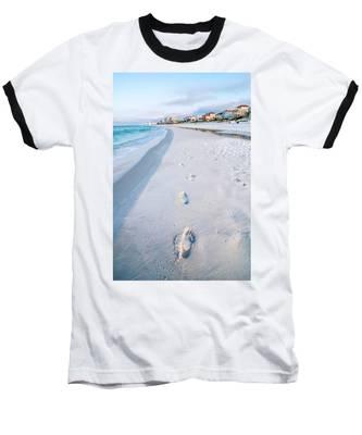 Florida Beach Scene Baseball T-Shirt