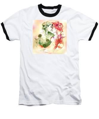 Flower And Leaf Baseball T-Shirt