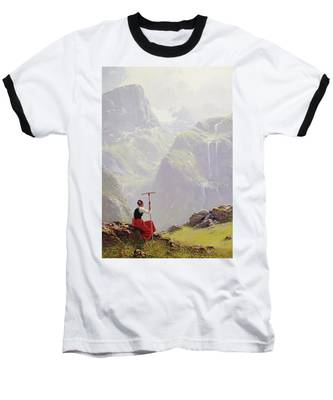 High In The Mountains Baseball T-Shirt