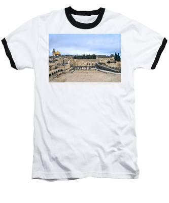 Jerusalem The Western Wall Baseball T-Shirt
