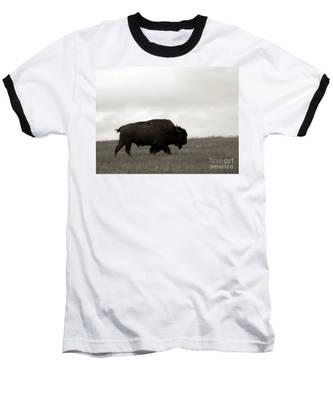 Lone Bison Baseball T-Shirt