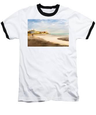 Take A Walk At The Beach Baseball T-Shirt
