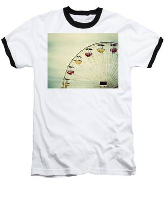 Vintage Ferris Wheel Baseball T-Shirt