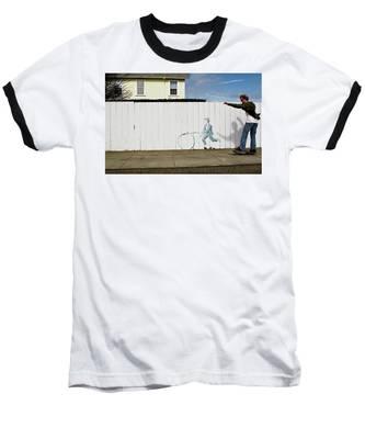 Downhill Buddy Baseball T-Shirt