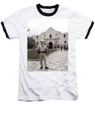He Guards The Alamo Baseball T-Shirt
