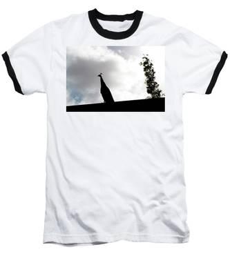 Peacock Sentry Baseball T-Shirt