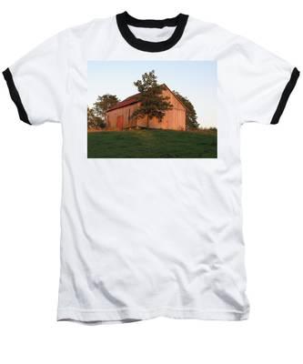 Tobacco Barn II In Color Baseball T-Shirt