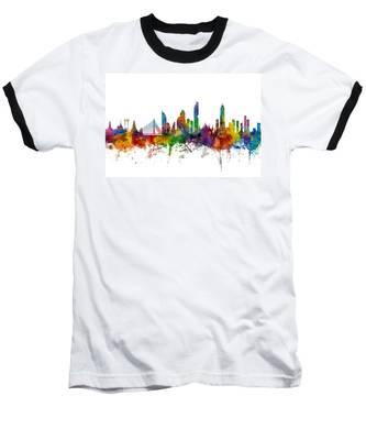Bangkok Thailand Skyline Baseball T-Shirt