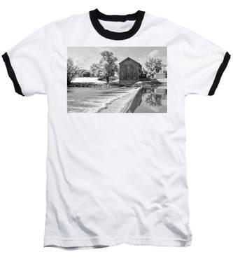 Baseball T-Shirt featuring the photograph Grist Mill by Andrea Platt