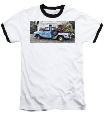 Baseball T-Shirt featuring the photograph Truckbed Bouquet by Andrea Platt
