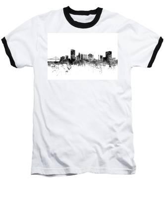 Toledo Ohio Skyline Baseball T-Shirt