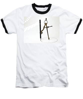 Brass Compass And Pencil Baseball T-Shirt