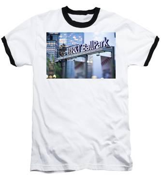Charlotte Nc Usa  Bbt Baseball Park Sign  Baseball T-Shirt