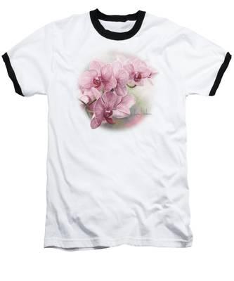 Graceful Orchids Baseball T-Shirt